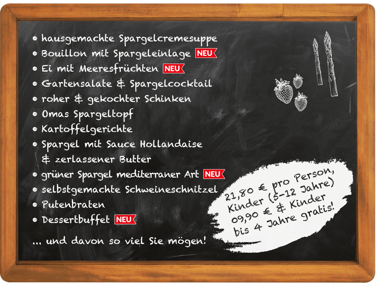 Spargelhof Hensgens Menü Spargelbuffet